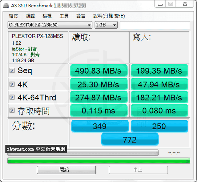 AS SSD Benchmark 2.0.7316.34247 免安裝中文版 – 測試固態硬碟效能、傳輸速率