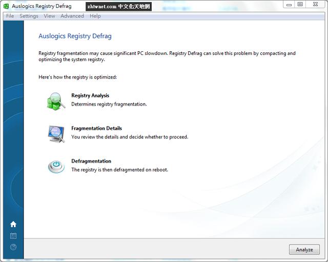 免費的登錄檔重組工具 – Auslogics Registry Defrag