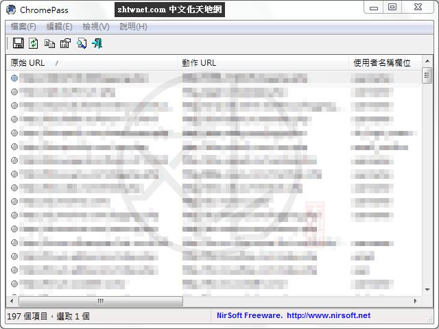 ChromePass 1.55 免安裝中文版 – 找回Google Chrome瀏覽器中儲存的帳號密碼