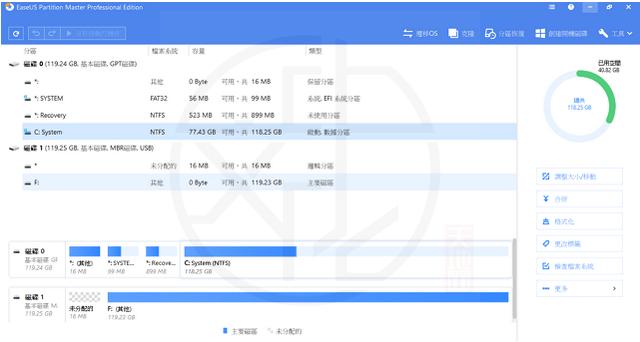 EaseUS Partition Master 13.5 中文版 – Windows 磁碟分割區管理工具