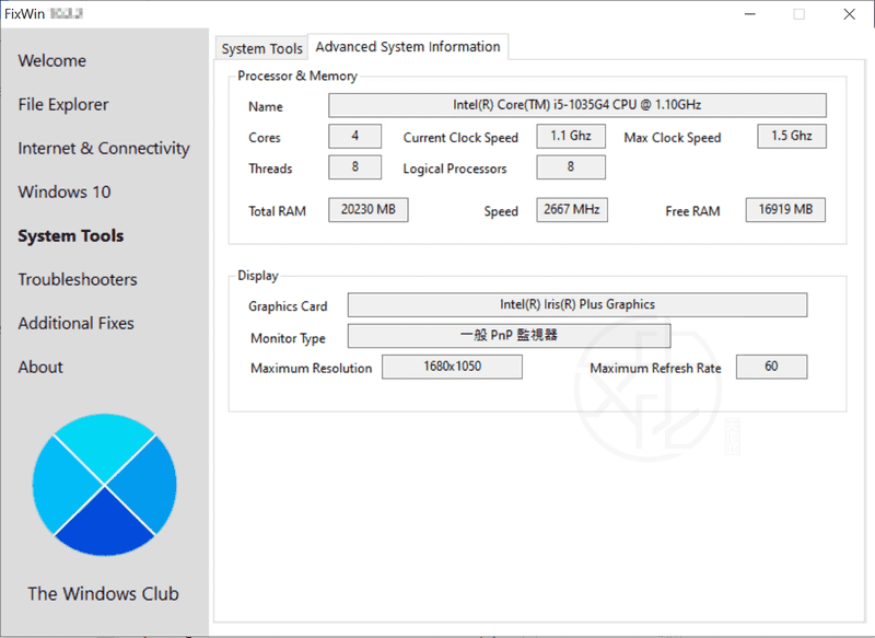FixWin for Windows