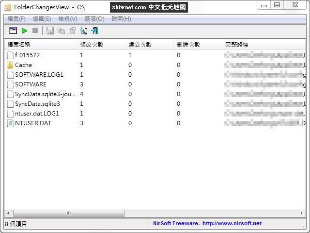 監控資料夾變動 – FolderChangesView 免安裝中文版