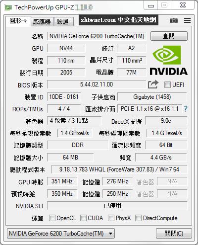 GPU-Z 2.34.0 免安裝中文版 – 顯示與您的視訊卡和 GPU 有關的所有資訊