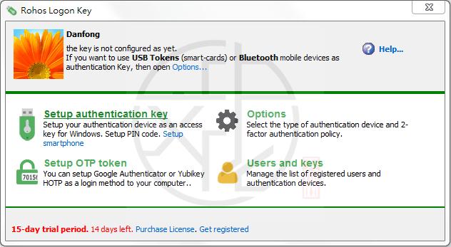 代替開機密碼以隨身碟來登入系統的「Rohos Logon Key」工具