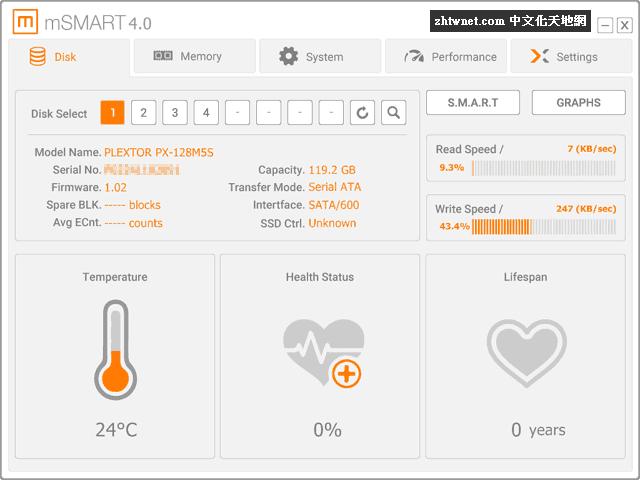 mSMART 免安裝版 – 硬碟監控分析工具